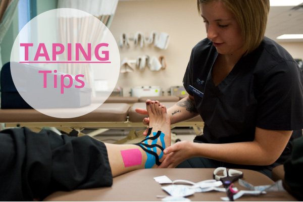 taping ankle knee