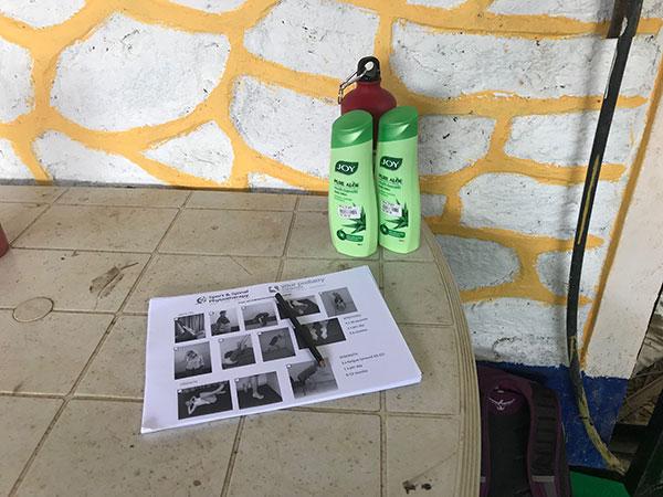 Nepal Physio handouts and cream