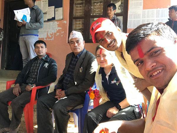 Nepal men and Physio Jenna