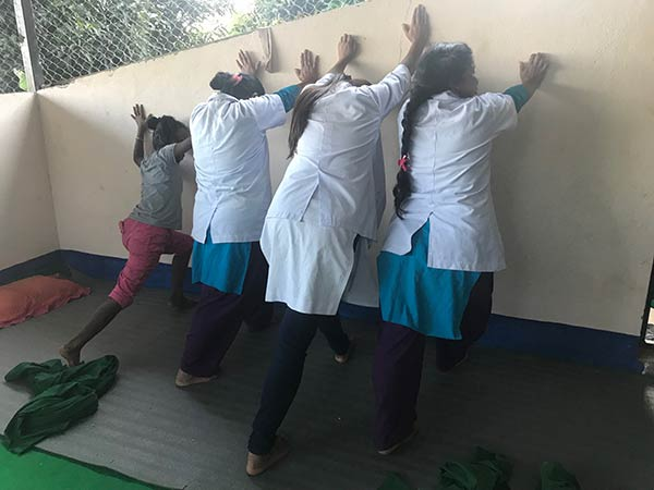 Nepal nurses physio wall