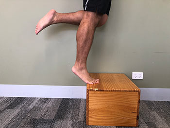 Straight Leg Calf Raise on Box 2