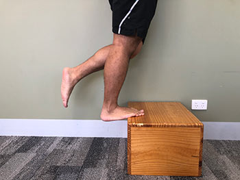 Straight Leg Calf Raise on box 1