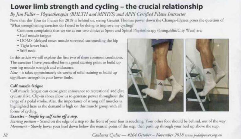 Lower Limb Strength - Canberra cyclist