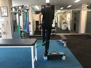 Step ups to improve glute strength