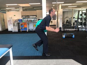 Squats to improve glute strength
