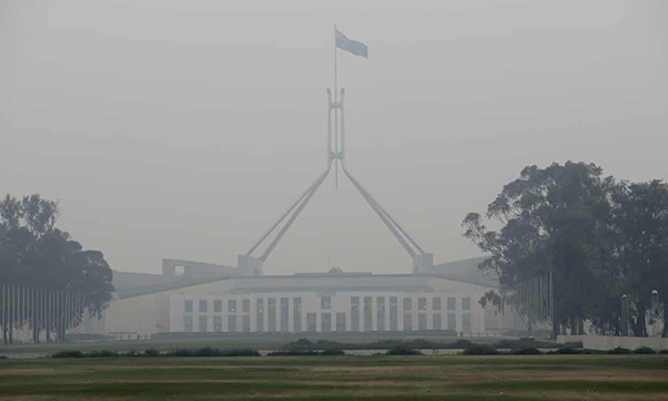 Canberra surrounded by smoke lead to breathing issues chest physiotherapy