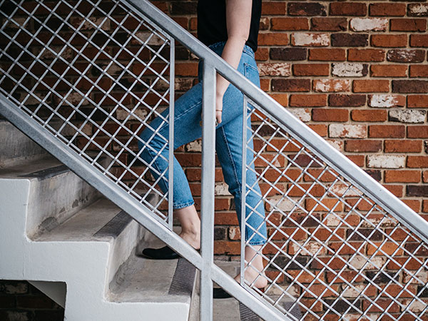 Walking up stairs is great for strengthening your legs